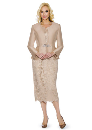 Lace + Silk Twill Suit G1098