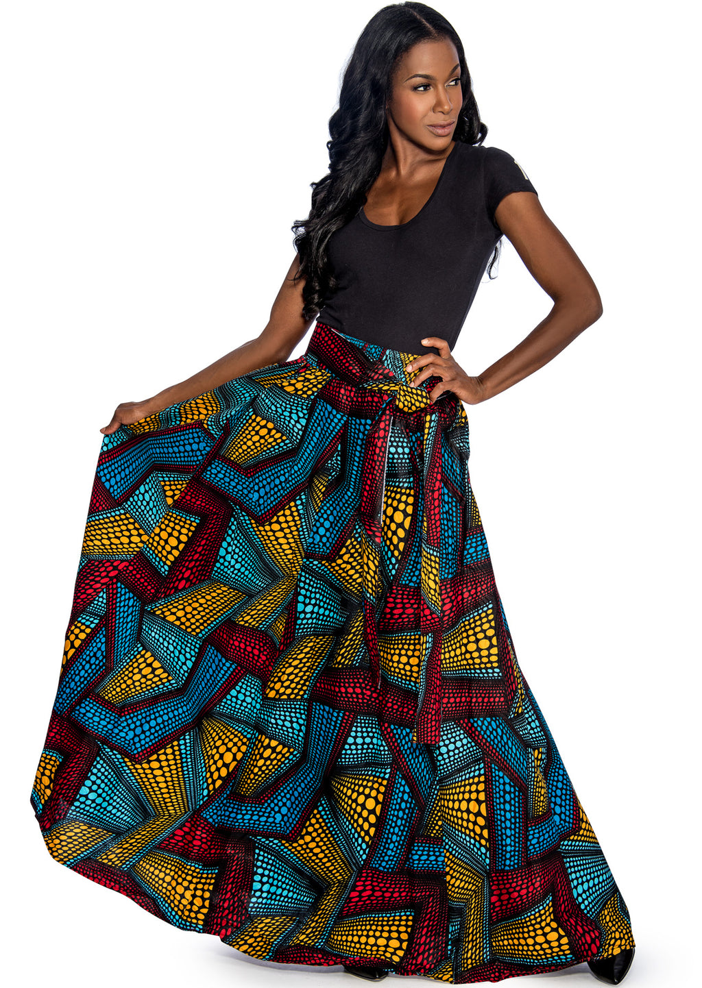 Geometric Pattern Skirt