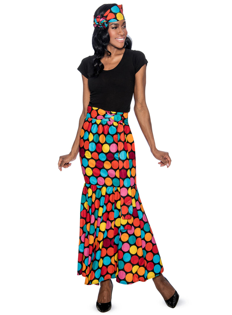 Rainbow Polka Dot Skirt P1013