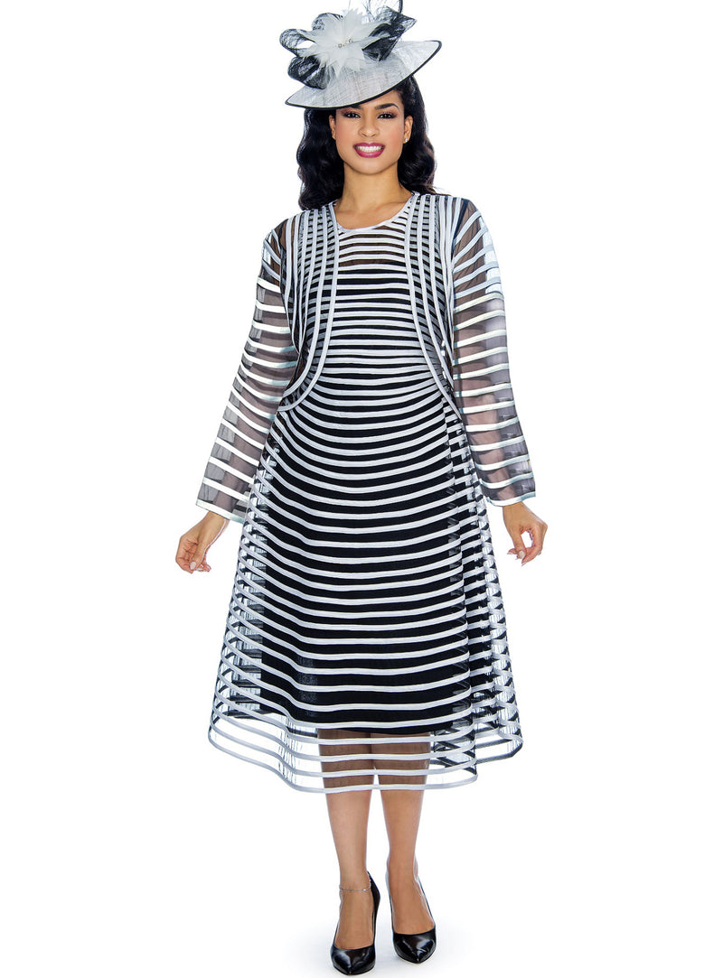 Ribbon Stripe Jacket Dress