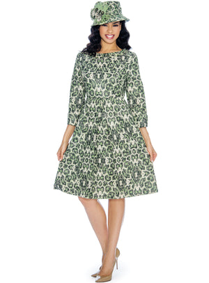Three-Quarter Sleeve Safari Flare Dress