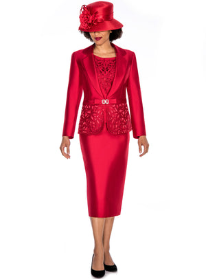 Embroidered Laser-Cut Suit G1007