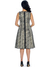 Reversible Leopard Brocade Jacket Dress