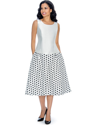 Polka Dot Brocade Skirt G1082