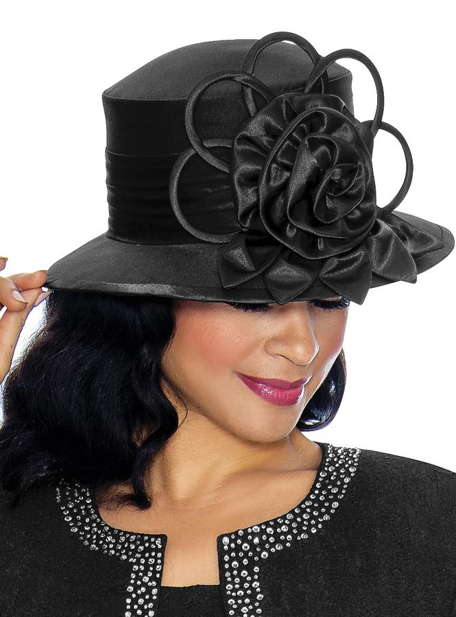 Black Silk Wool Hat