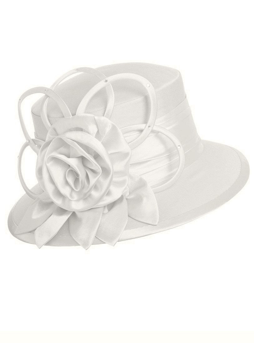 Ivory Silk Wool Hat