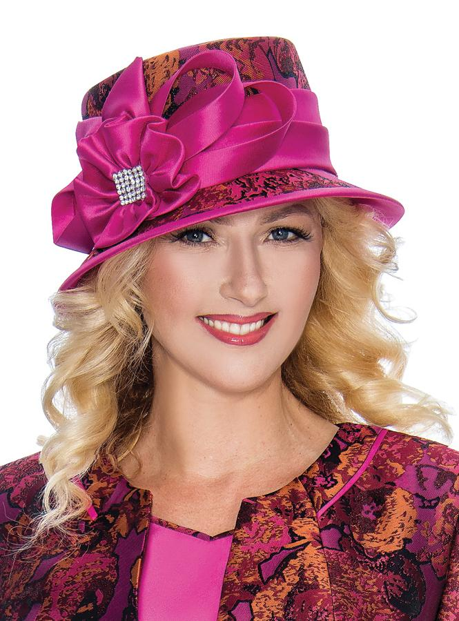 Fuchsia Brocade Hat
