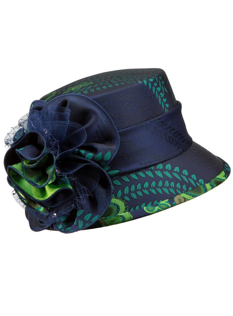 Floral Pattern Small Brim Hat