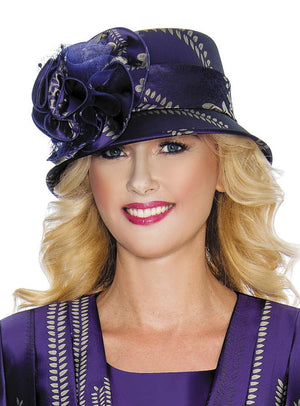 Floral Pattern Small Brim Hat HG1067