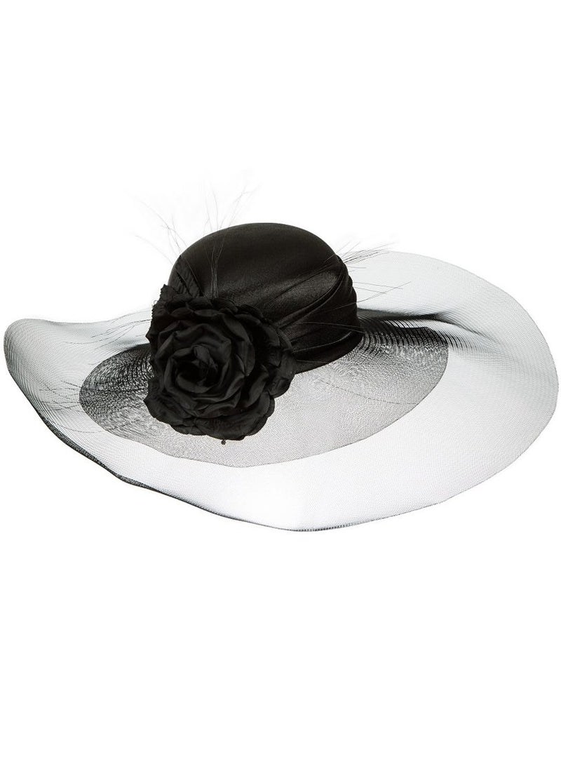 Silk Rose Tulle Hat