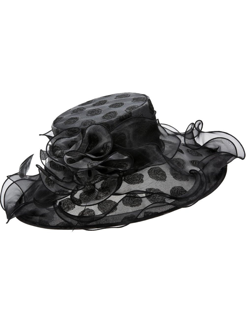 Rose-Dot Organza Hat
