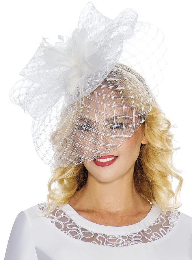 Feather-Flower Mesh Fascinator