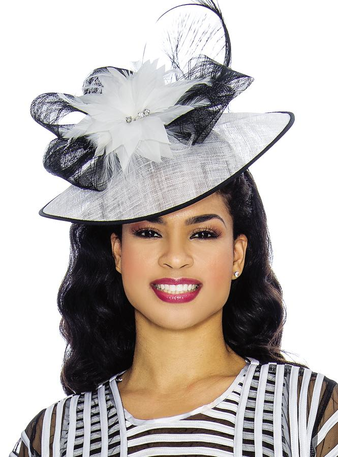 Two-Tone Feathered Saucer Fascinator