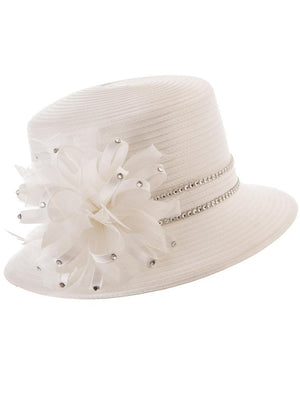 Mixed-Media Bow Ribbon Hat HR1037