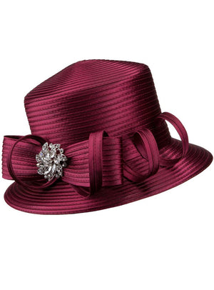Bow and Curl Ribbon Hat HR1056