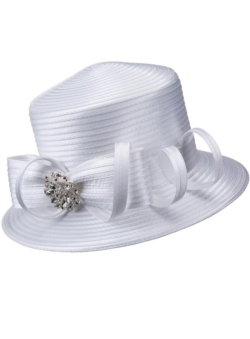 Bow and Curl Ribbon Hat