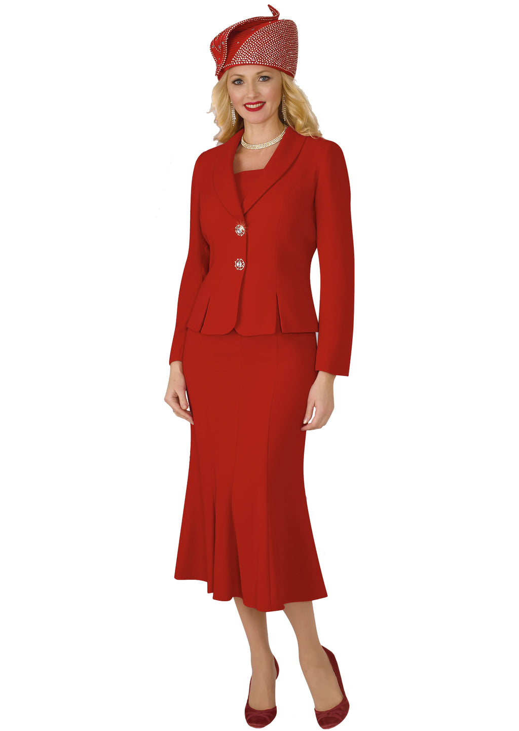Lily & Taylor Suit 2834 Red