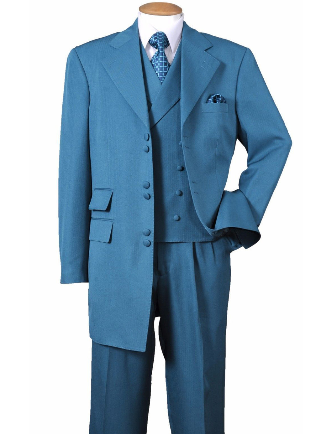 Six Button Vested Suit