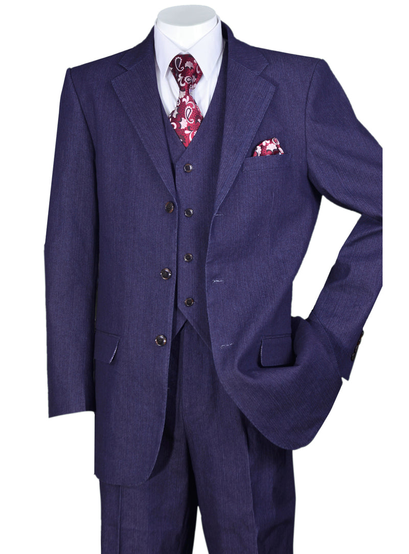Vested Denim Look Suit