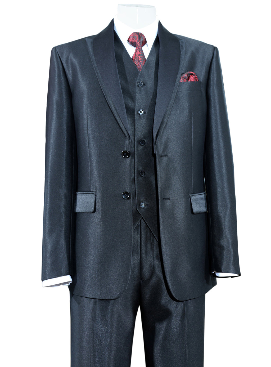 Shawl Lapel Vested Suit
