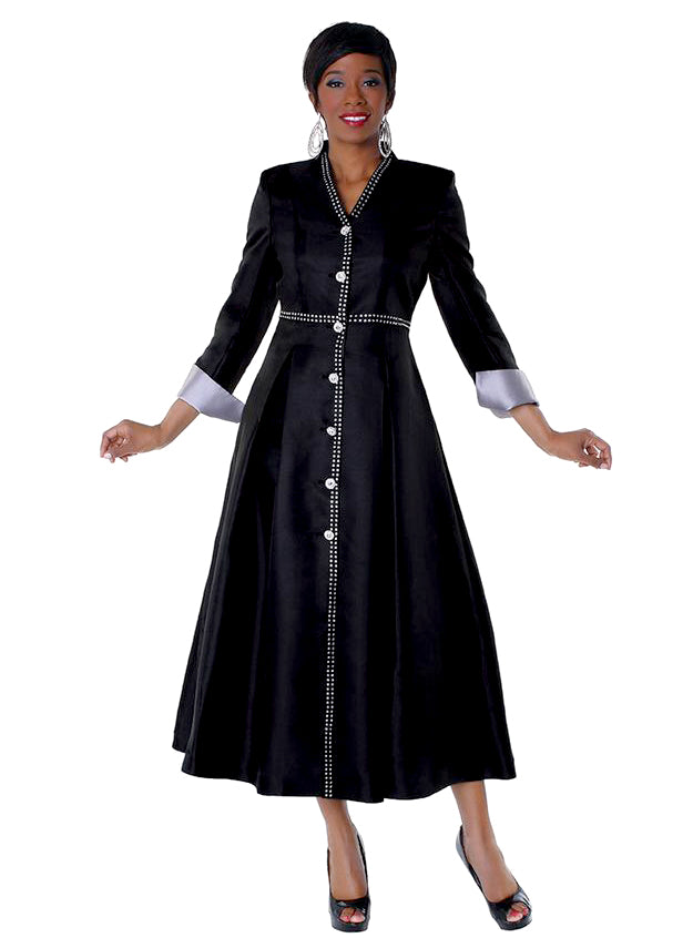 Rhinestone Cross Cuff Sleeved Robe