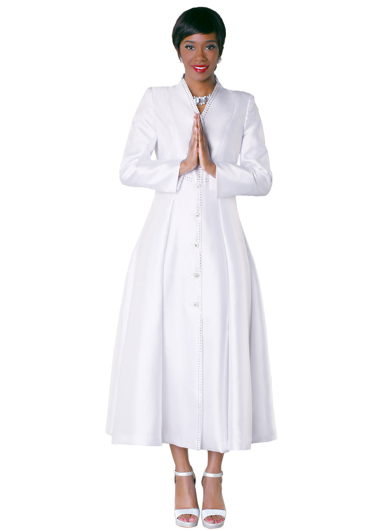 Rhinestone Cross Cuffed Sleeved Robe
