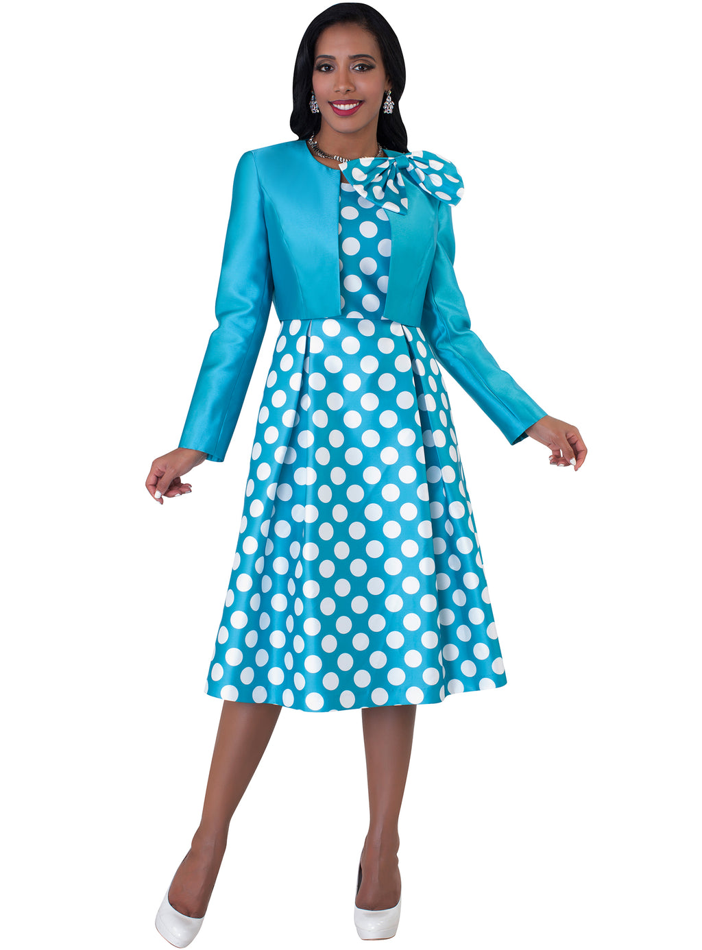 Polka Dot Dress with Bow