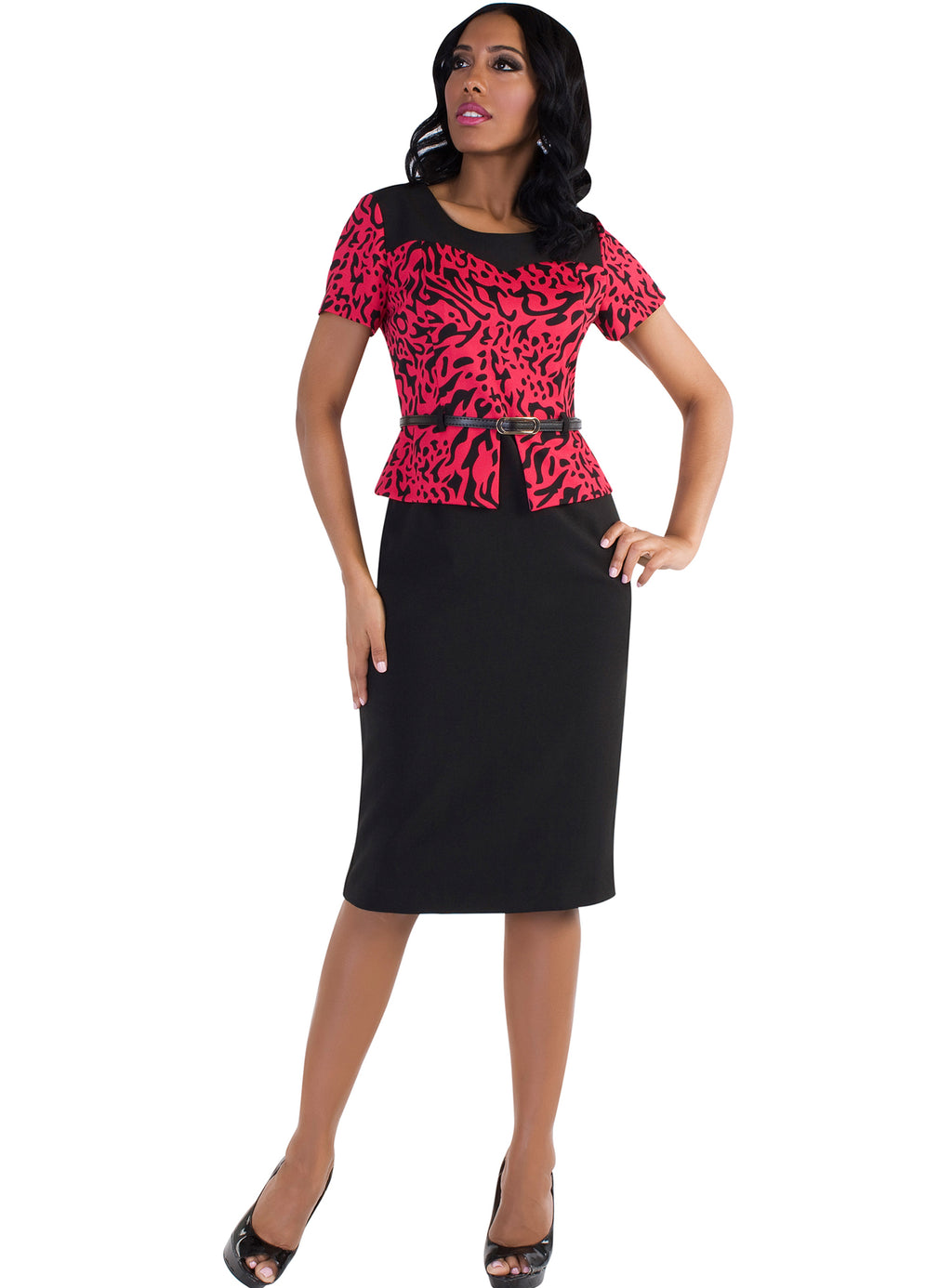 Belted Animal Print Dress