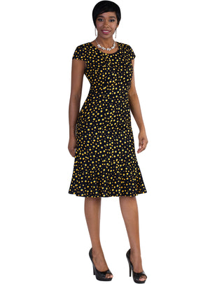 Dot Pattern Jacket Dress