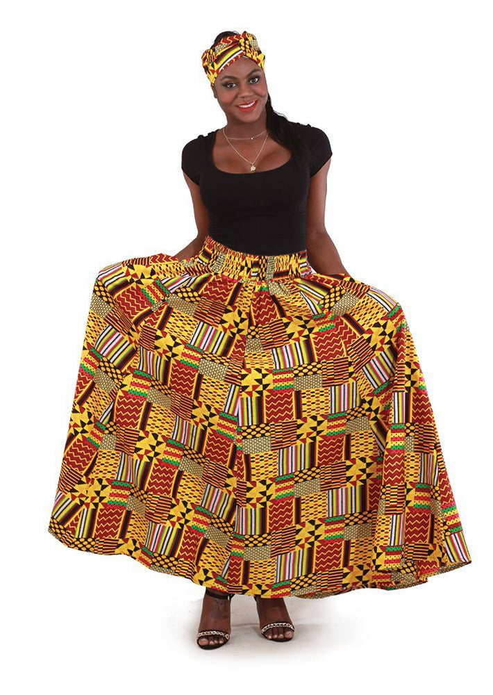 Kente Patchwork Skirt C-WH241