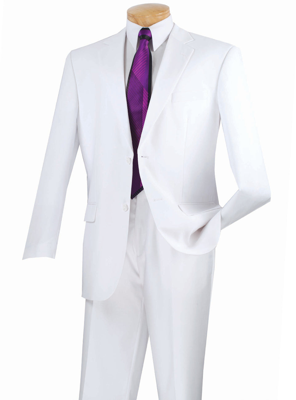 Solid Two Button Executive Suit