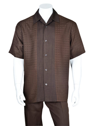 Tonal Check Pattern Walking Suit