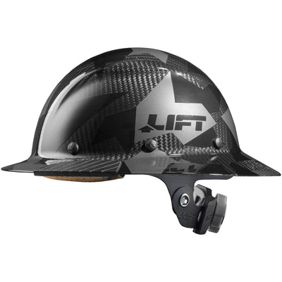 DAX Carbon Fiber Camo Full Brim Hardhat - LIFT Safety