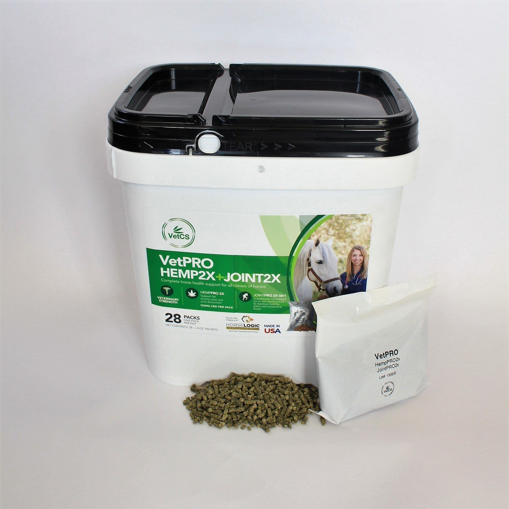 VetCS VetPro horse pellets in individual Fresh Packs