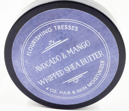 Avocado & Mango Butter Whipped Shea 4 oz.