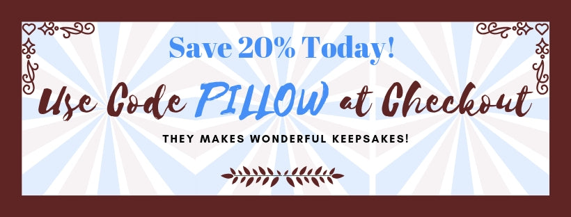 Save 20% on pillows today.