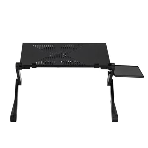 360-Degree Rotation Multifunctional Portable Folding Table with Fan Laptop Desk