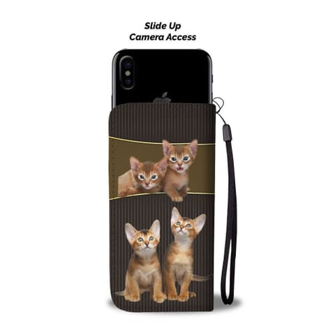 Image of Abyssinian cat Print Wallet Case Wallet Case