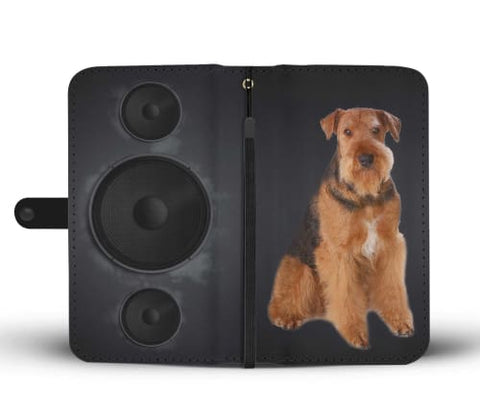 Image of Airedale Terrier Dog Print Wallet Case Wallet Case