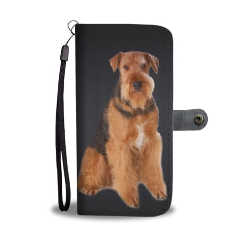 Airedale Terrier Dog Print Wallet Case Wallet Case