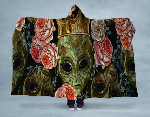Image of Alien King Hooded Blanket 80x60 / Multicolored