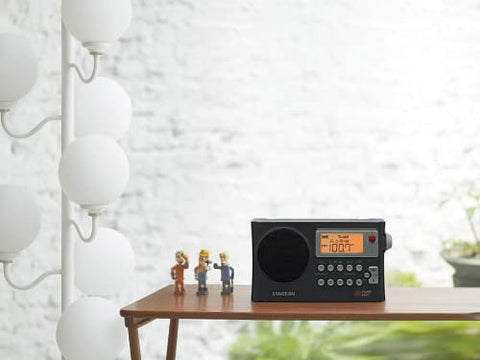 AM/FM Weather Alert Portable Radio with Bandwidth Narrowing, AM Auto Tracking