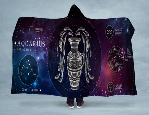 Image of Aquarius Hooded Blanket 80x60 / Multicolored