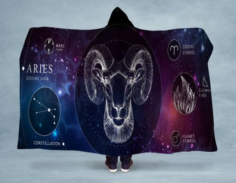 Image of Aries Hooded Blanket 80x60 / Multicolored
