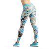 Beverly Blue Kittens & Flowers Leggings XS / Short / Multicolored