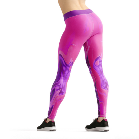 Image of Beverly Hot Pink Liquid Leggings