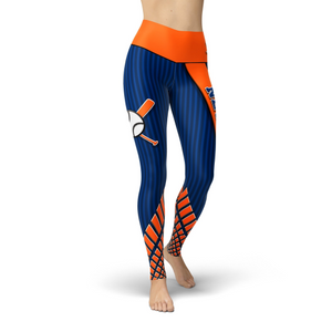 Beverly Queens Baseball Leggings XS / Short / Multicolored