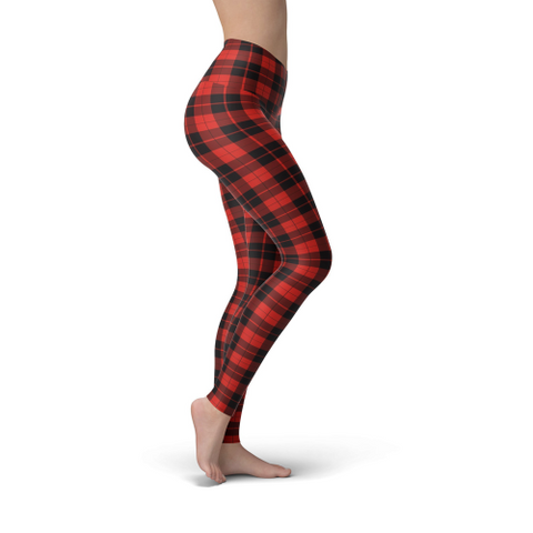 Image of Beverly Red Plaid Leggings