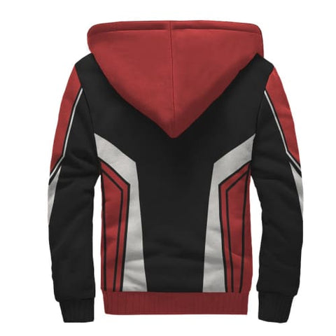 Black White and Red Party AOP Sherpa Unisex Hoodie