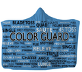 Blue Color Guard Hooded Blanket 80x60 / Muliticolored
